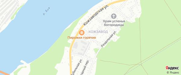 Ясный переулок на карте Бийска с номерами домов