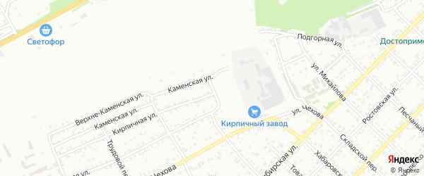 Стекольный переулок на карте Бийска с номерами домов