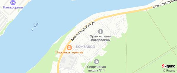 Аксаковский переулок на карте Бийска с номерами домов