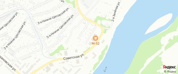 9-я Нижне-Цесовская улица на карте Бийска с номерами домов