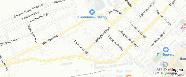Элеваторный переулок на карте Бийска с номерами домов
