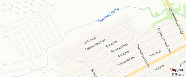 Улица 6-й Проезд на карте Бийска с номерами домов
