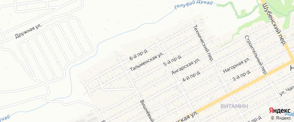 Тальменская улица на карте Бийска с номерами домов