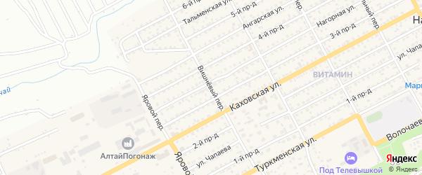 Вишнёвый переулок на карте Бийска с номерами домов
