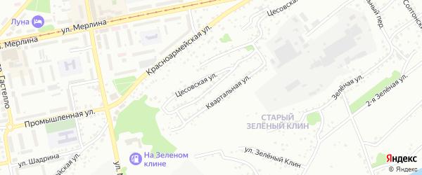 2-я Квартальная улица на карте Бийска с номерами домов