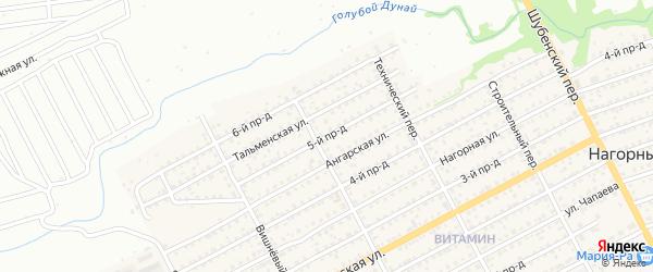 Улица 5-й Проезд на карте Бийска с номерами домов