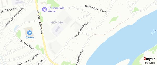 Улица Зелёный клин на карте Бийска с номерами домов