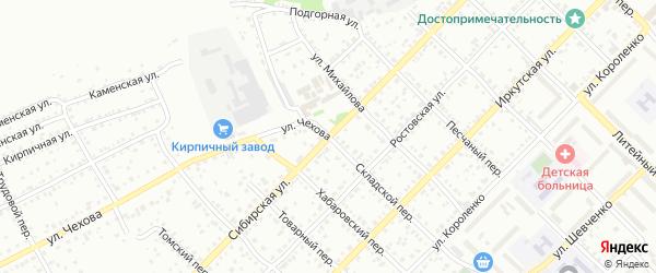 Сибирская улица на карте Бийска с номерами домов