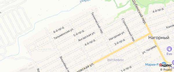 Ангарская улица на карте Бийска с номерами домов