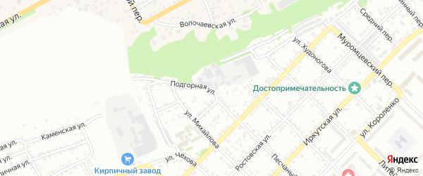 Подгорная улица на карте Бийска с номерами домов