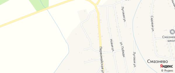 Вторая Майская улица на карте станции Смазнево с номерами домов