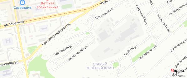 Квартальная улица на карте Бийска с номерами домов