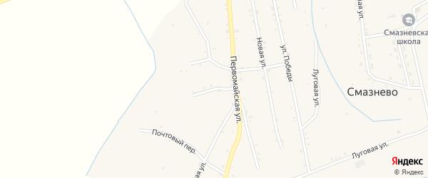 Западный переулок на карте станции Смазнево с номерами домов