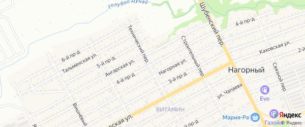 4-й проезд на карте Бийска с номерами домов