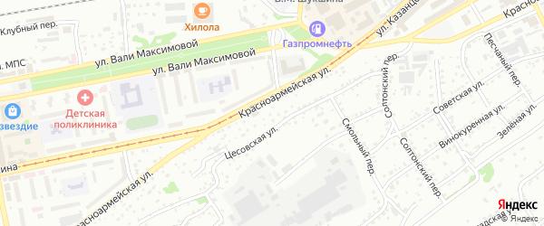 Слесарный переулок на карте Бийска с номерами домов