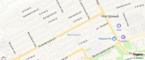 Технический переулок на карте Бийска с номерами домов