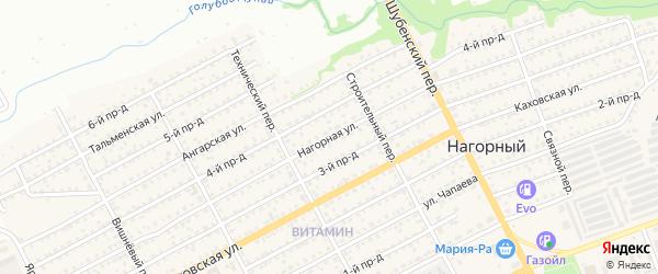 Нагорная улица на карте Бийска с номерами домов