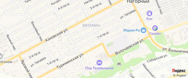 1-й проезд на карте Бийска с номерами домов