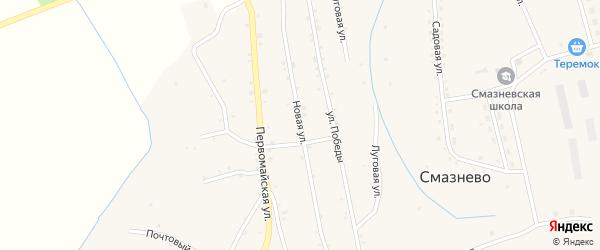 Новая улица на карте станции Смазнево с номерами домов