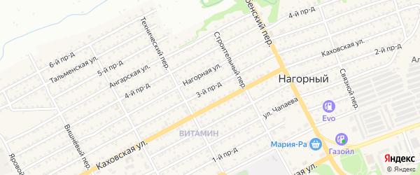 3-й проезд на карте Бийска с номерами домов
