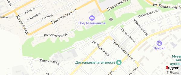 Верхне-Сибирская улица на карте Бийска с номерами домов