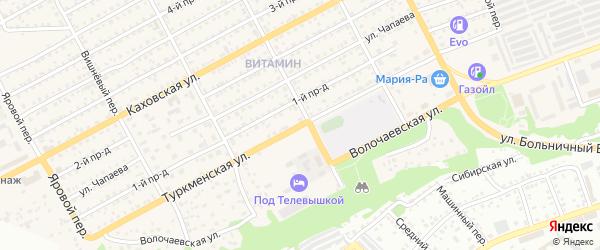 Туркменская улица на карте Бийска с номерами домов
