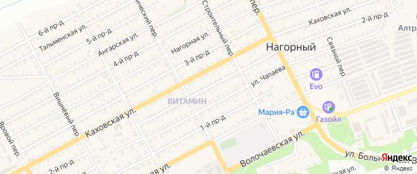 2-й проезд на карте Бийска с номерами домов