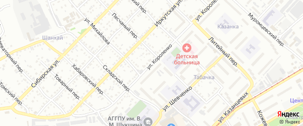 Улица Владимира Короленко на карте Бийска с номерами домов