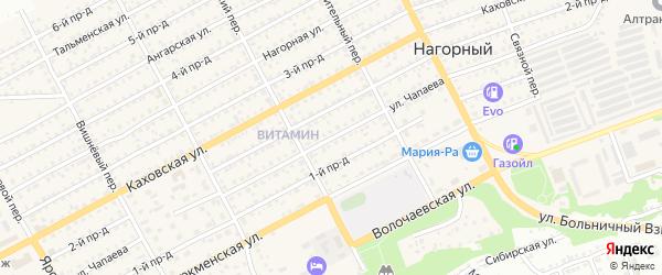 Улица Василия Чапаева на карте Бийска с номерами домов