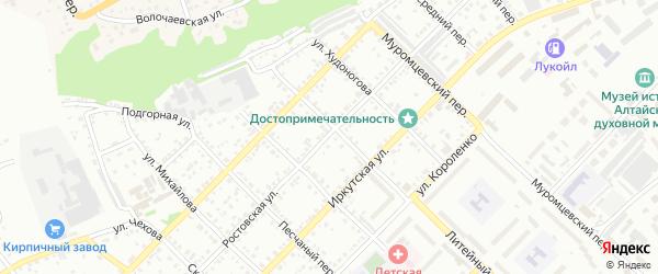 Ростовская улица на карте Бийска с номерами домов