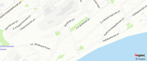 2-я Зеленая улица на карте Бийска с номерами домов
