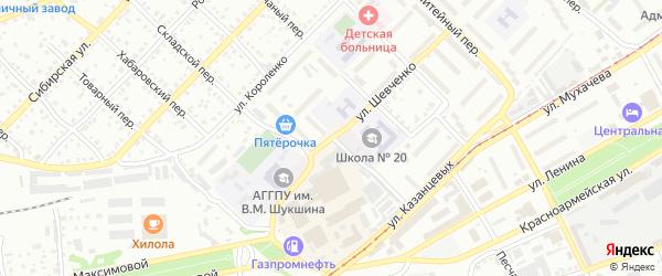 Улица Семёна Михайлова на карте Бийска с номерами домов