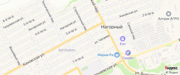 Строительный переулок на карте Бийска с номерами домов