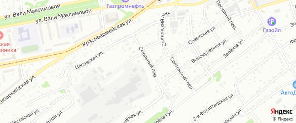 Смольный переулок на карте Бийска с номерами домов