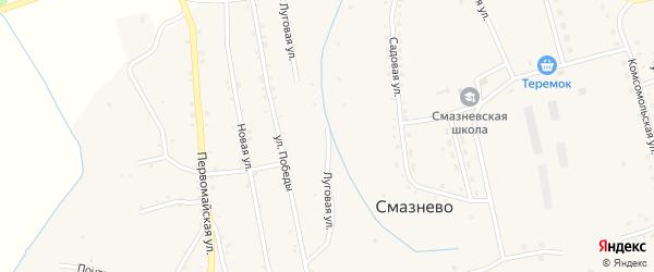 Луговая улица на карте станции Голухи с номерами домов