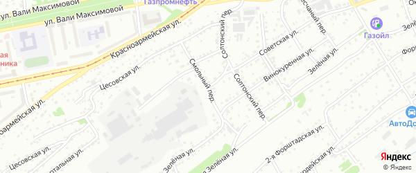 Советская улица на карте Бийска с номерами домов