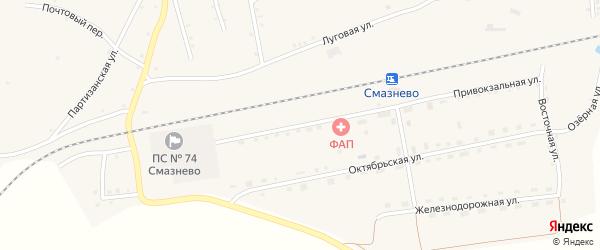 Привокзальная улица на карте Батунной станции с номерами домов