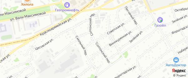 Улица Ж/д ветка Спиртзавода на карте Бийска с номерами домов