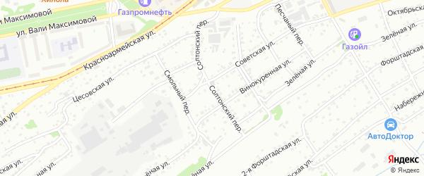 Солтонский переулок на карте Бийска с номерами домов