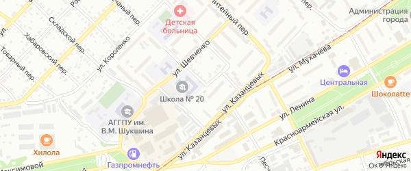 Улица Леонида Метелёва на карте Бийска с номерами домов