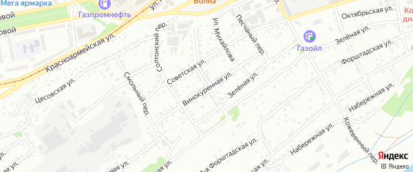 Винокуренная улица на карте Бийска с номерами домов