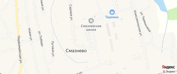 Улица Гагарина на карте станции Смазнево с номерами домов
