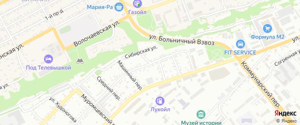 Горный переулок на карте Бийска с номерами домов