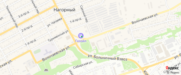 Волочаевская улица на карте Бийска с номерами домов