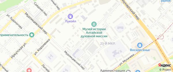 1-й Военный городок на карте Бийска с номерами домов