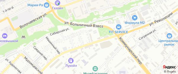 Спортивный переулок на карте Бийска с номерами домов