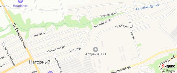 Овражный переулок на карте Бийска с номерами домов