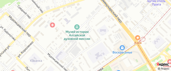 2-я Сенная улица на карте Бийска с номерами домов