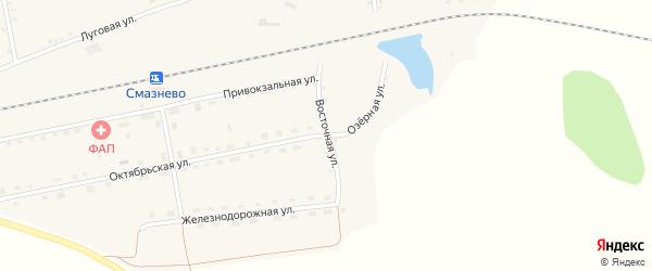 Восточная улица на карте станции Смазнево с номерами домов
