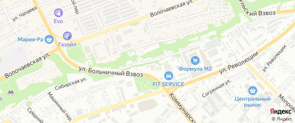 Улица 2-й Больничный Взвоз на карте Бийска с номерами домов